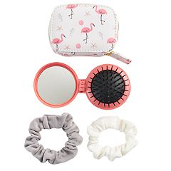 LC Lauren Conrad Beachy Flamingos Travel Hair Kit