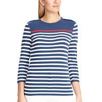 Women's Chaps Striped Button-Shoulder Tee