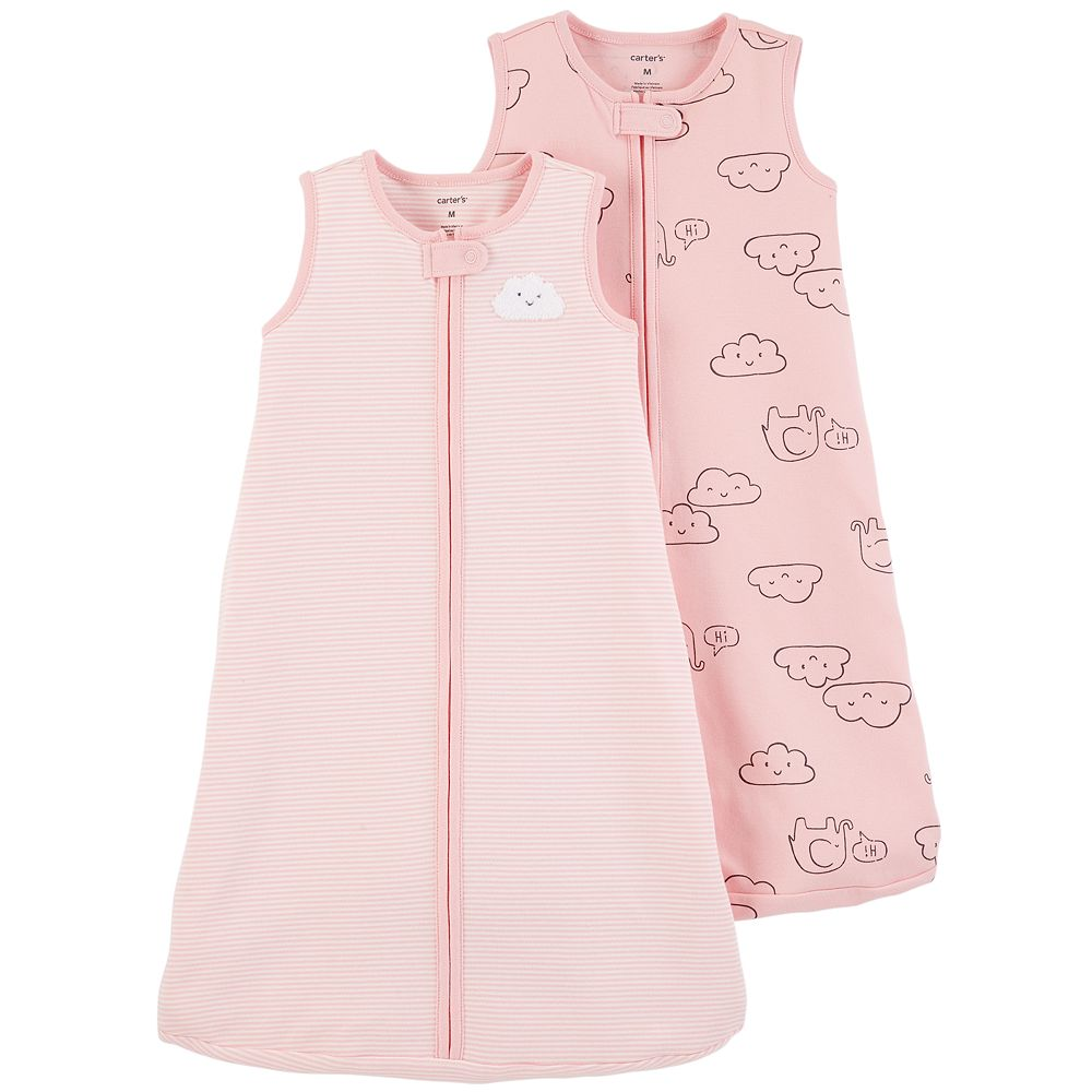 Baby Girl Carter's 2-pack Cloud & Elephant Sleep Bag