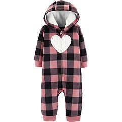 Baby Girl Carter's Buffalo Plaid Microfleece Coverall