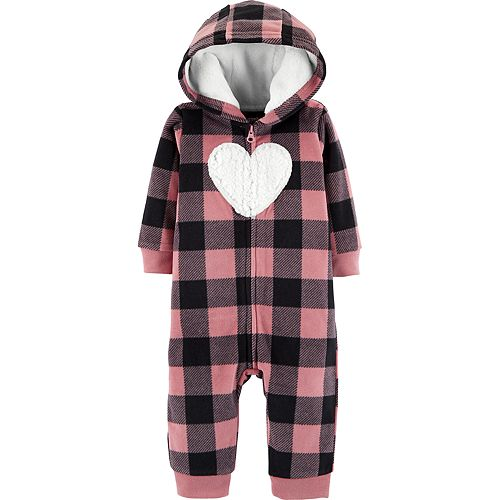 a9b12c4b1 Baby Girl Carter s Buffalo Plaid Microfleece Coverall