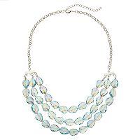 Iridescent Bead Statement Necklace