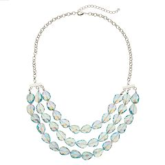 Iridescent Bead Statement Necklace