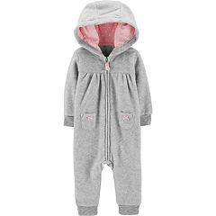 Baby Girl Carter's Koala Hooded Fleece Jumpsuit