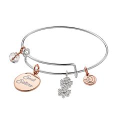love this life Two Tone 'Soul Sisters' Charm Bangle Bracelet