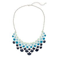 Blue & Green Ombre Statement Necklace