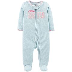 Baby Girl Carter's 'Little Sister' Microfleece Sleep & Play