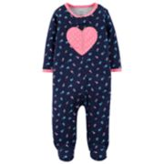Baby Girl Carter's Heart & Floral Sleep & Play