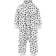 Baby Girl Carter's Heart Fleece Jumpsuit