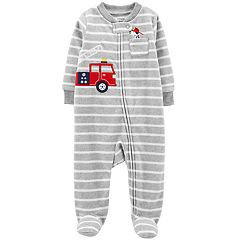 Baby Boy Carter's Firetruck, Dog & Striped Microfleece Sleep & Play