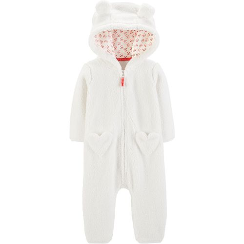 Baby Girl Carter's Hooded Sherpa Coverall