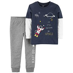Toddler Boy Carter's 2-pc. Space Mock Layer Graphic Tee & Jogger Pants Set