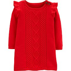 Baby Girl Carter's Cable-Knit Sweaterdress