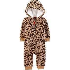 Baby Girl Carter's Cheetah Microfleece Coverall