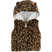 Baby Girl Carter's Hooded Faux-Fur Vest