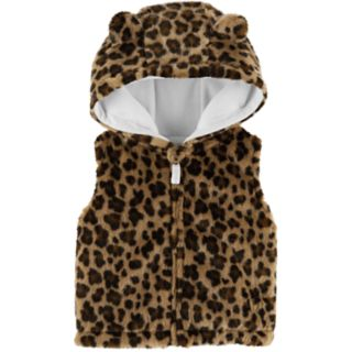 Baby Girl Carter's Hooded Faux-Fur Vest