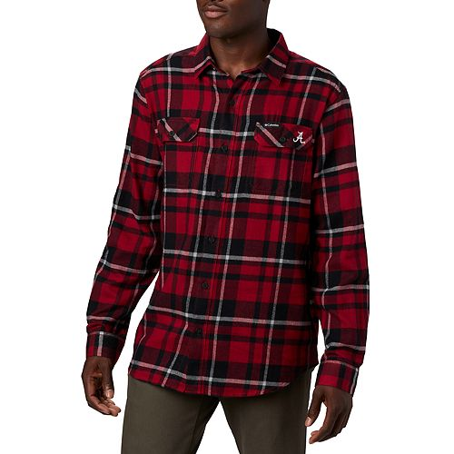 Men's Columbia NCAA Alabama Crimson Tide Collegiate Flare Gun Flannel Shirt