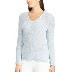 Women's Chaps Waffle-Weave V-Neck Sweater