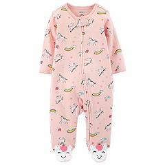 Baby Girl Carter's Unicorn & Rainbows Sleep & Play