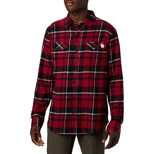 Men's Columbia NCAA Oklahoma Sooners Collegiate Flare Gun Flannel Shirt