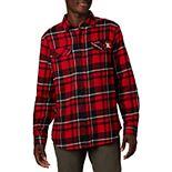 Men's Columbia NCAA Nebraska Cornhuskers Collegiate Flare Gun Flannel Long Sleeve Shirt
