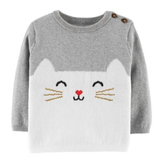 Baby Girl Carter's Cat Graphic Sweater