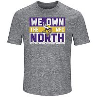 Men's Minnesota Vikings 2017 NFC North Division Champions Line of Scrimmage Tee
