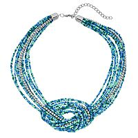 Seed Bead Knotted Multistrand Necklace