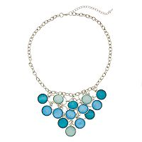 Blue & Green Circle Statement Necklace