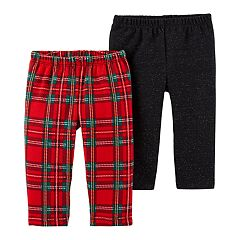 Baby Girl Carter's 2-pack Plaid & Lurex Leggings