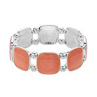 Peach Epoxy Link Stretch Bracelet