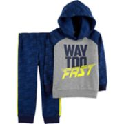 "Toddler Boy Carter's ""Way Too Fast"" Hoodie & Pants Set"