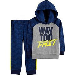 Toddler Boy Carter's 'Way Too Fast' Hoodie & Pants Set