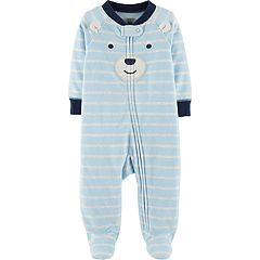 Baby Boy Carter's Microfleece Striped Bear Sleep & Play
