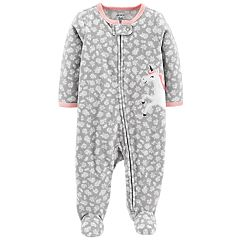 Baby Girl Carter's Floral Unicorn Microfleece Sleep & Play