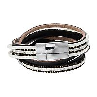 Multistrand Rhinestone Wrap Bracelet