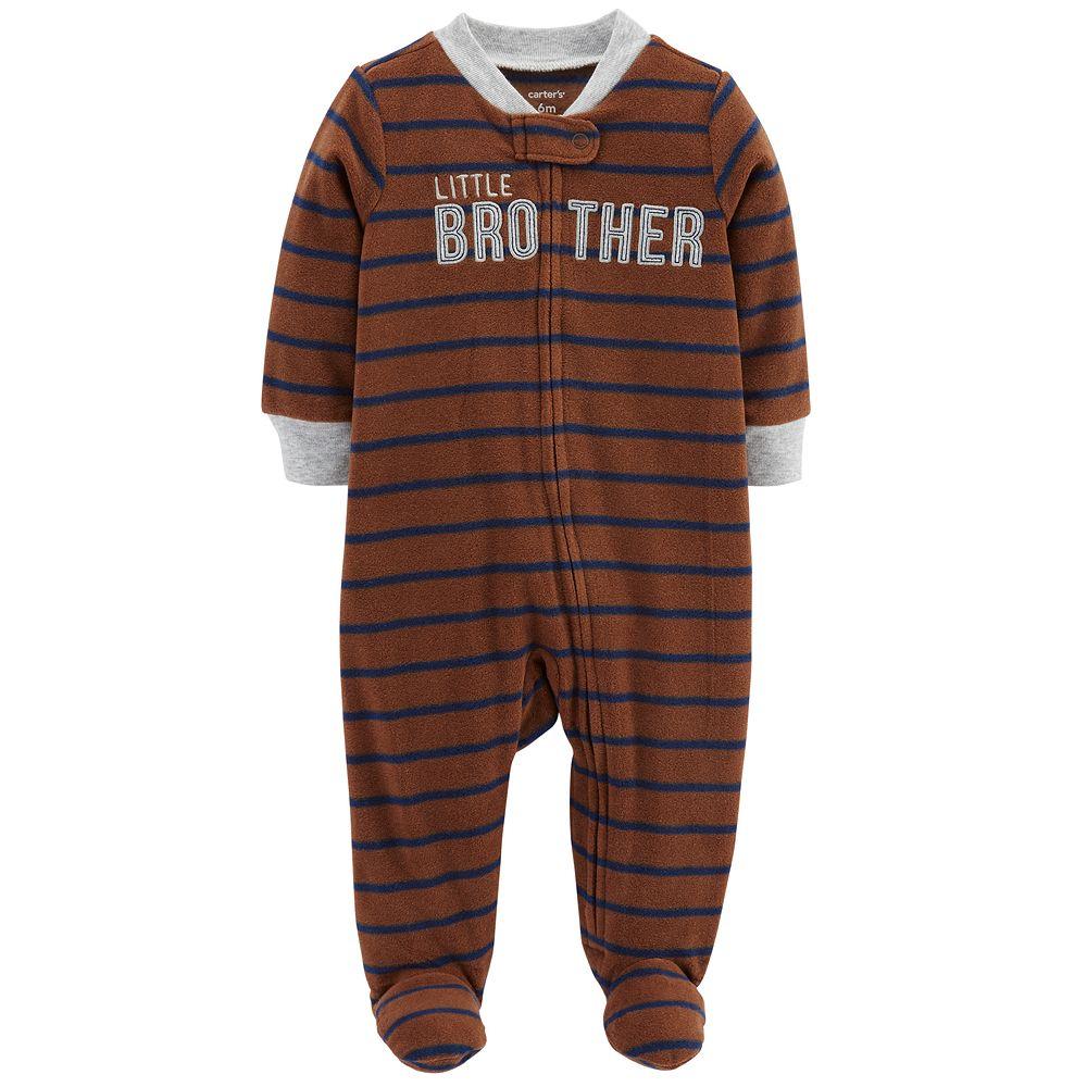 "Baby Boy Carter's ""Little Brother"" Microfleece Sleep & Play"