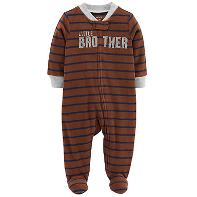 "Baby Boy Carter's ""Little Brother"" Microfleece Sleep & Play"