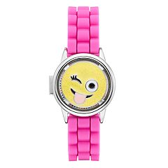 Limited Too Kids' Emoji Spinner Flip-Up Lid Watch
