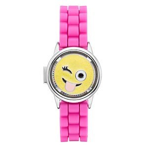 Limited Too Kids' Emoji Spinner Flip-Up Lid Watch