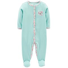 Baby Girl Carter's Bear & Floral Sleep & Play