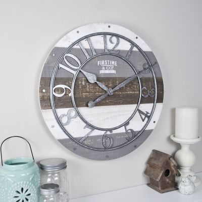 FirsTime Rustic Farmhouse Pallet Wall Clock