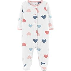 Baby Girl Carter's Microfleece Heart Sleep & Play