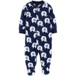 Baby Boy Carter's Elephant Print Microfleece Sleep & Play