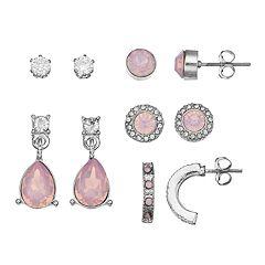 Pink Nickel Free Earring Set