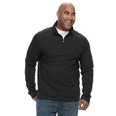 Big & Tall Van Heusen Flex Classic-Fit Quarter-Zip Sweater