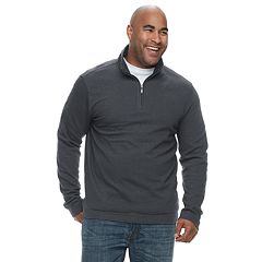 Big & Tall Van Heusen Flex Classic-Fit Quarter-Zip Pullover