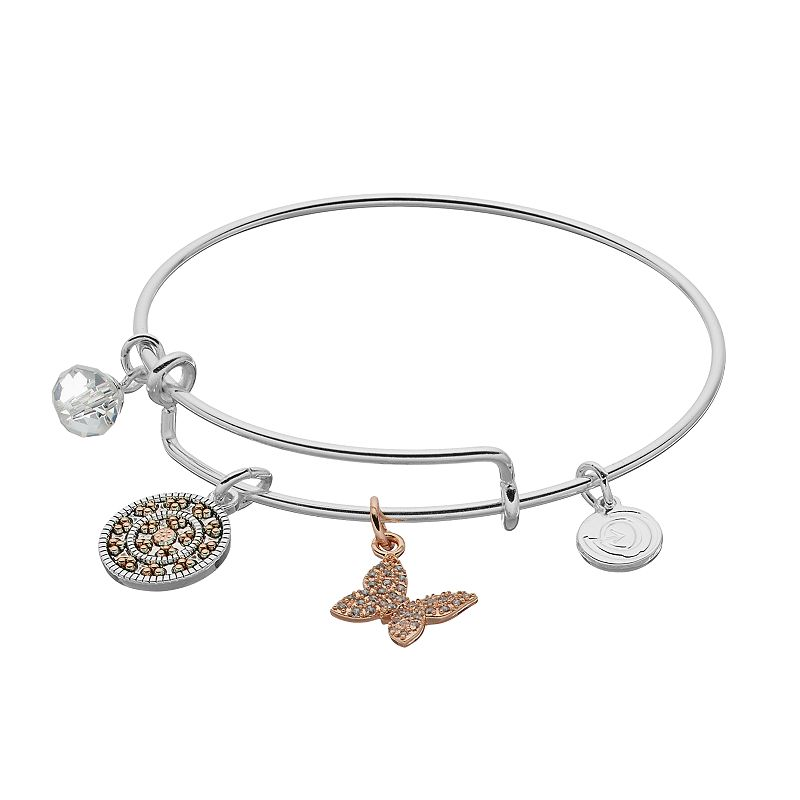 a27aab924 love this life Two Tone Kindness Charm Bangle Bracelet, Women's, Silver