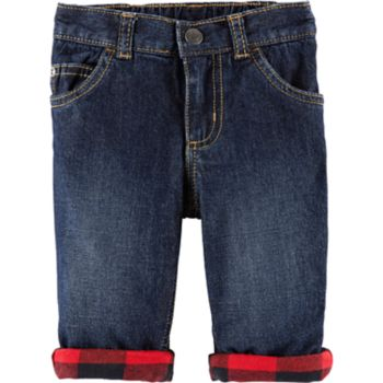 Baby Boy Carter's Buffalo Check Flannel Jeans