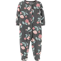 Baby Girl Carter's Microfleece Floral Sleep & Play